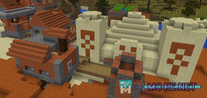 Поверхностный данж и деревня с храмом