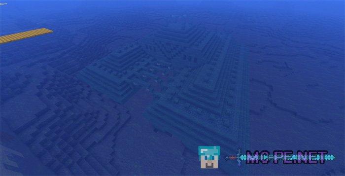 Деревня на острове и подводная крепость