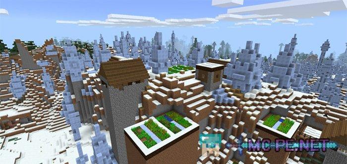 Деревня на равнине ледяных шипов