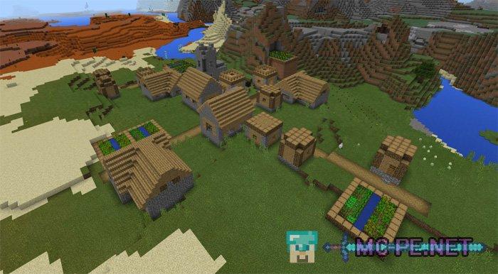 Глиняный биом и деревни