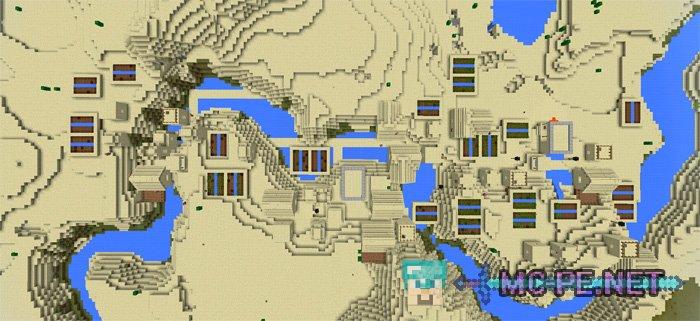Тройная деревня в пустыне