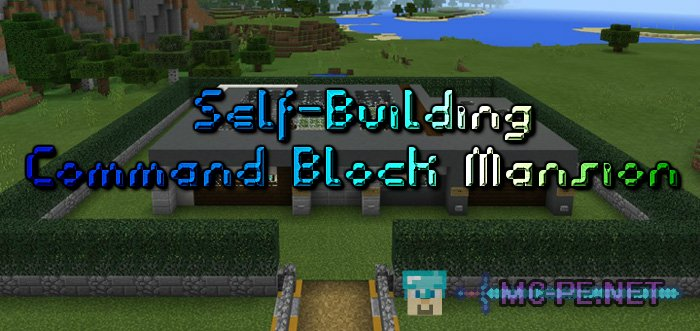 How to make a mansion in minecraft pe using command block