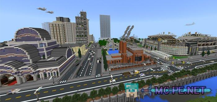 Скачать карту на майнкрафт на город на 1. 7. 2.