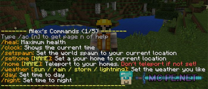 Alex's Commands Mod