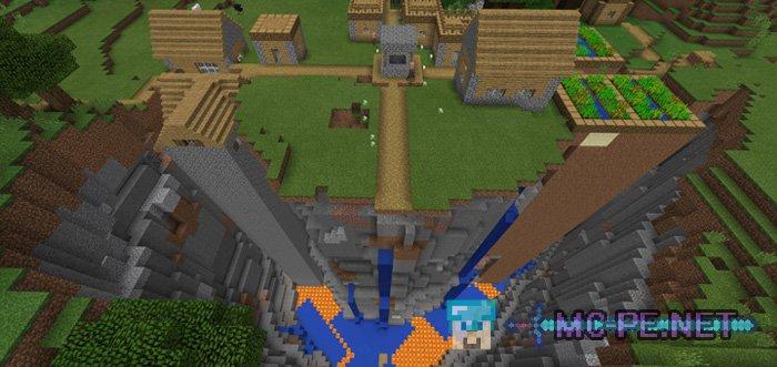 Деревня возле ущелья