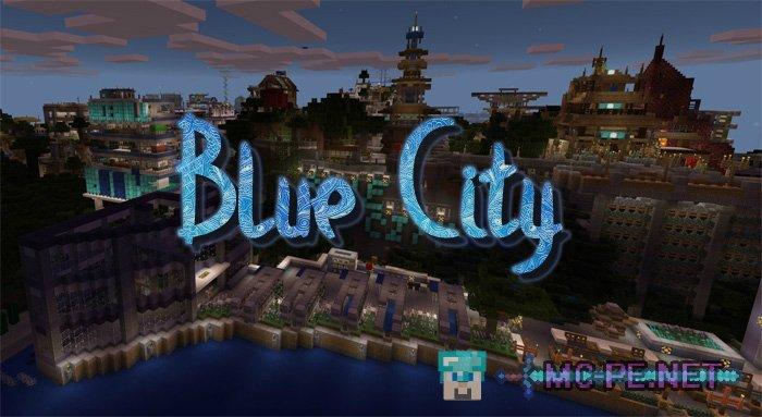 blue city map