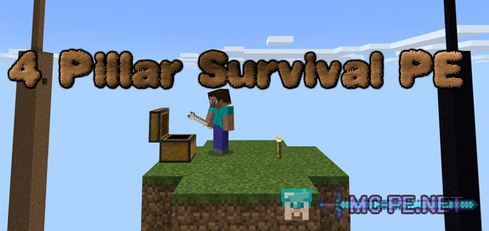 4 Pillar Survival PE [1 0 5] › Maps › MCPE - Minecraft Pocket