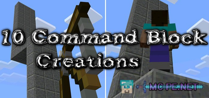 10 Command Block Creations [1 0 5] › Maps › MCPE - Minecraft