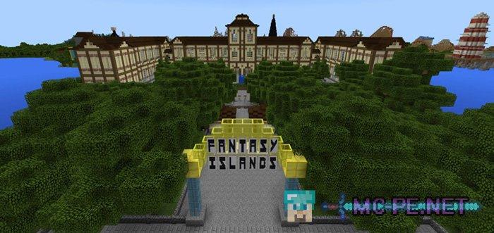 minecraft theme park map download pe