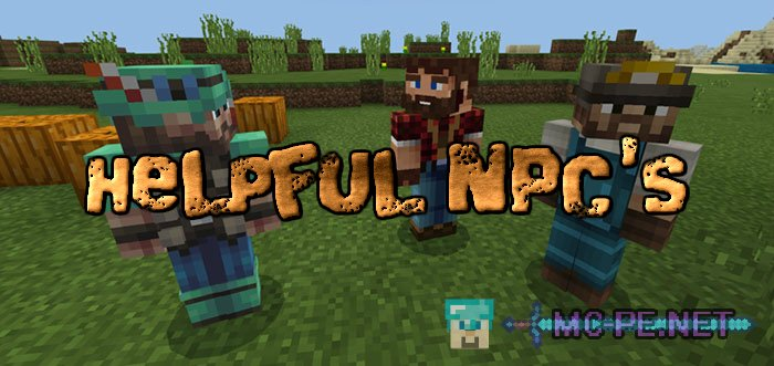 Helpful NPC's › Addons › MCPE - Minecraft Pocket Edition